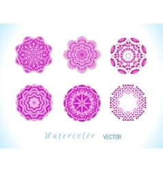 Pink watercolor set vector