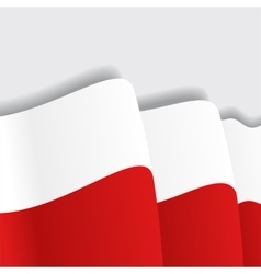 Polish waving Flag vector