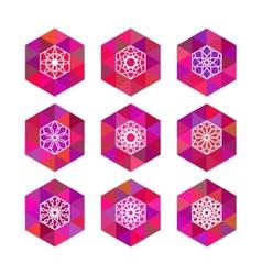 Polygonal logo templates vector
