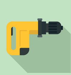 power drill icon flat style vector image