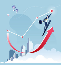 Reach target-business concept vector