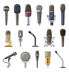 record microphone audio podcast concert vector image