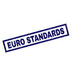 rectangle scratched euro standards stamp vector image