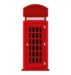 red british telephone cabin graphic vector image