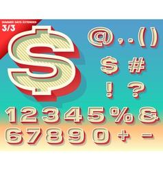 retro alphabet for summer typography design vector image