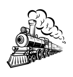 Retro train isolated on white background design vector