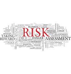 Risk word cloud concept vector