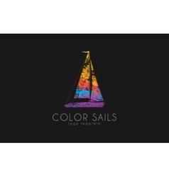 Sails logo color boat logo sailing logo vector
