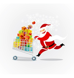 santa on a shopping spree vector image