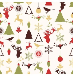 Seamless pattern with Christmas and New years vector