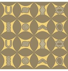 Seamless texture with Australian aboriginal art vector