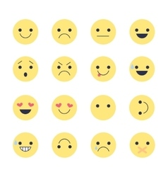 Set emoji icons for applications and chat vector