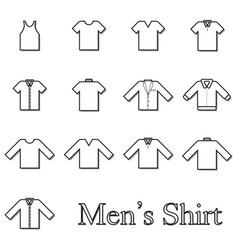 set men shirt line icon vector image