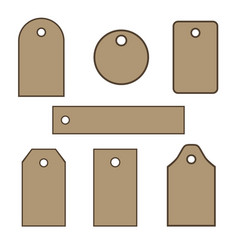 set of cardboard tags vector image