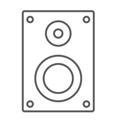 sound speaker thin line icon electronic digital vector image