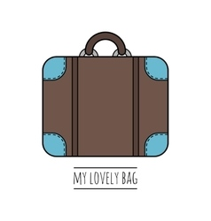 Suitcase isolated Color flat icon object vector image