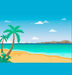 Summer tropical sand beach landscape vector