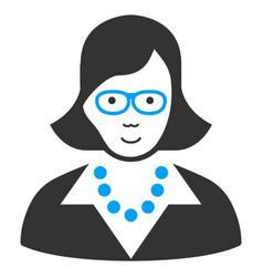 Teacher lady icon vector