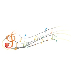 The different musical notes and symbols vector