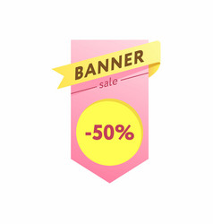 The template for the banner vector