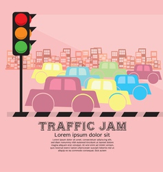Traffic Jam EPS10 vector image
