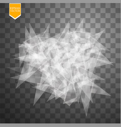 Transparent broken glass on transparent background vector