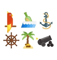 Treasures icons set vector image