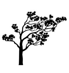 Tree sakura silhouette vector