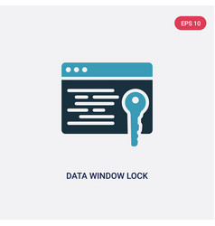 two color data window lock icon from security vector image