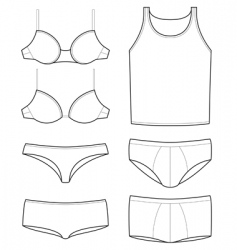 Underwear templates vector