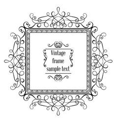 vintage ornamental greeting card template vector image