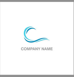 Water wave abstract logo vector