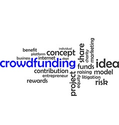 word cloud crowdfunding vector image