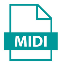 file name extension midi type vector image vector image