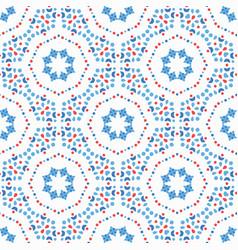 flower pattern blue boho background vector image vector image