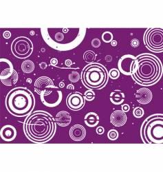 grunge circle violet background vector image vector image