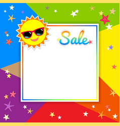summer sale template banner in vector image vector image