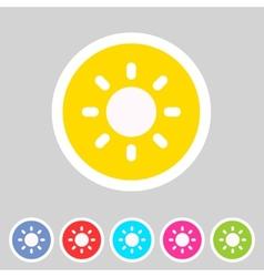 Sun badge flat icon sign set symbol vector image vector image