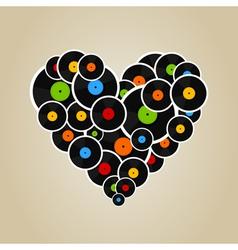 Vinyl heart vector image vector image