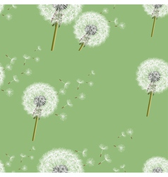 Background seamless pattern with dandelion vector image vector image