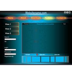 dark blue template of website vector image