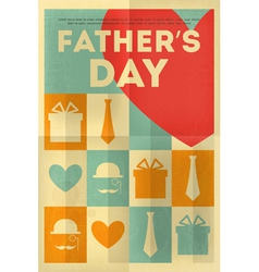 fathers day poster heart vector image vector image