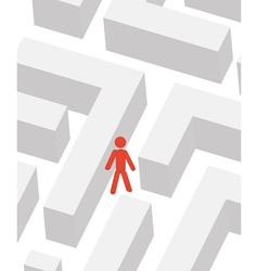 man in labyrinth vector image vector image