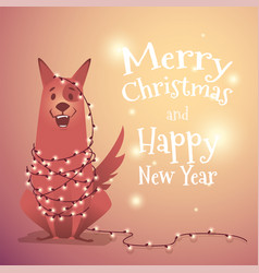the dog is a symbol of 2018 vector image vector image