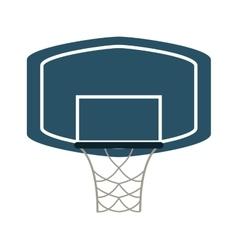 basketball backboard and net icon vector image