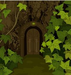 Gates of Magic Elves Castle vector image vector image