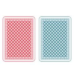 Playing cards back epsilon vector image