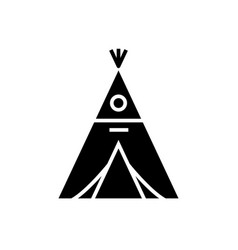 wigwam icon black sign on vector image