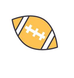 american football ball flat line vector image vector image