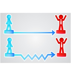 business with arrows an vector image